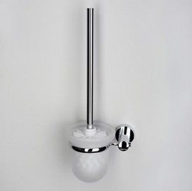Щетка для унитаза подвесная WasserKRAFT Серия Donau K-9400 матовое стекло