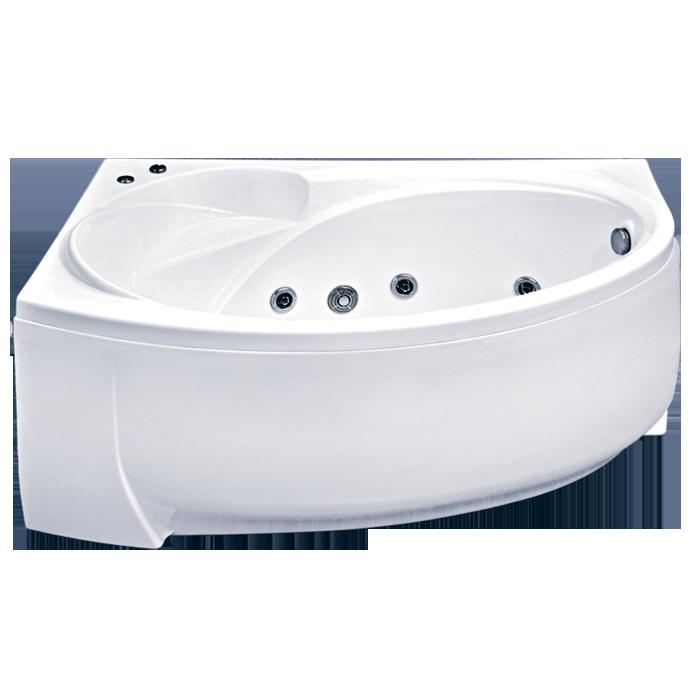 Акриловая ванна BAS  Флорида 160x88 с гидромассажем