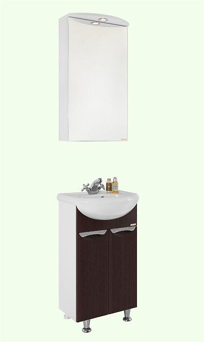 Мебель для ванной Vod-ok Лира 45 (белый, венге)