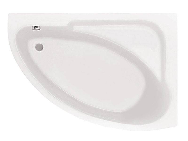 Акриловая ванна Santek Гоа 150×100 без гидромассажа Правосторонняя
