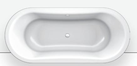 BLB Стальная ванна  Ванна Duo Comfort Oval  180х80