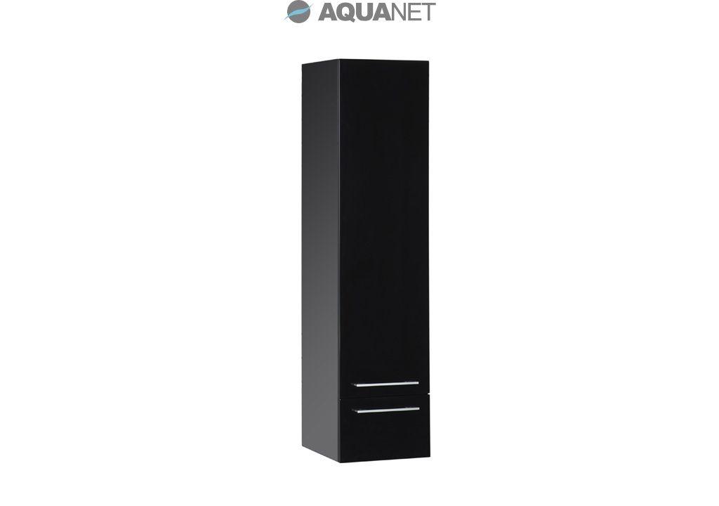 Пенал Aquanet  Нота 40, подвесной, цвет черный глянец. (168883)