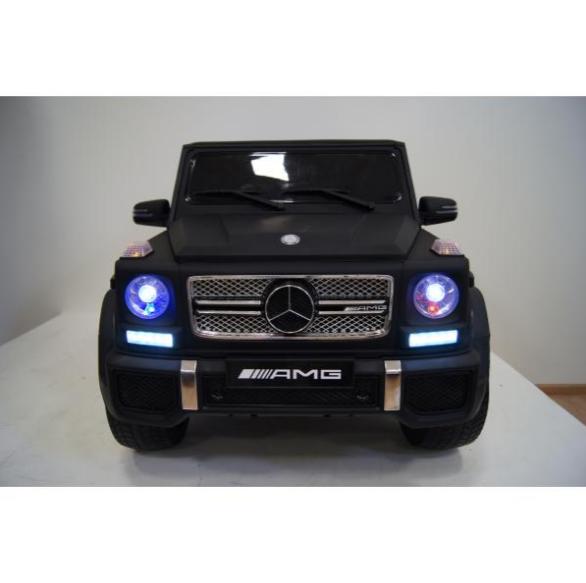 Детский электромобиль River Toys Mercedes-Benz-G-65-AM черный матовый