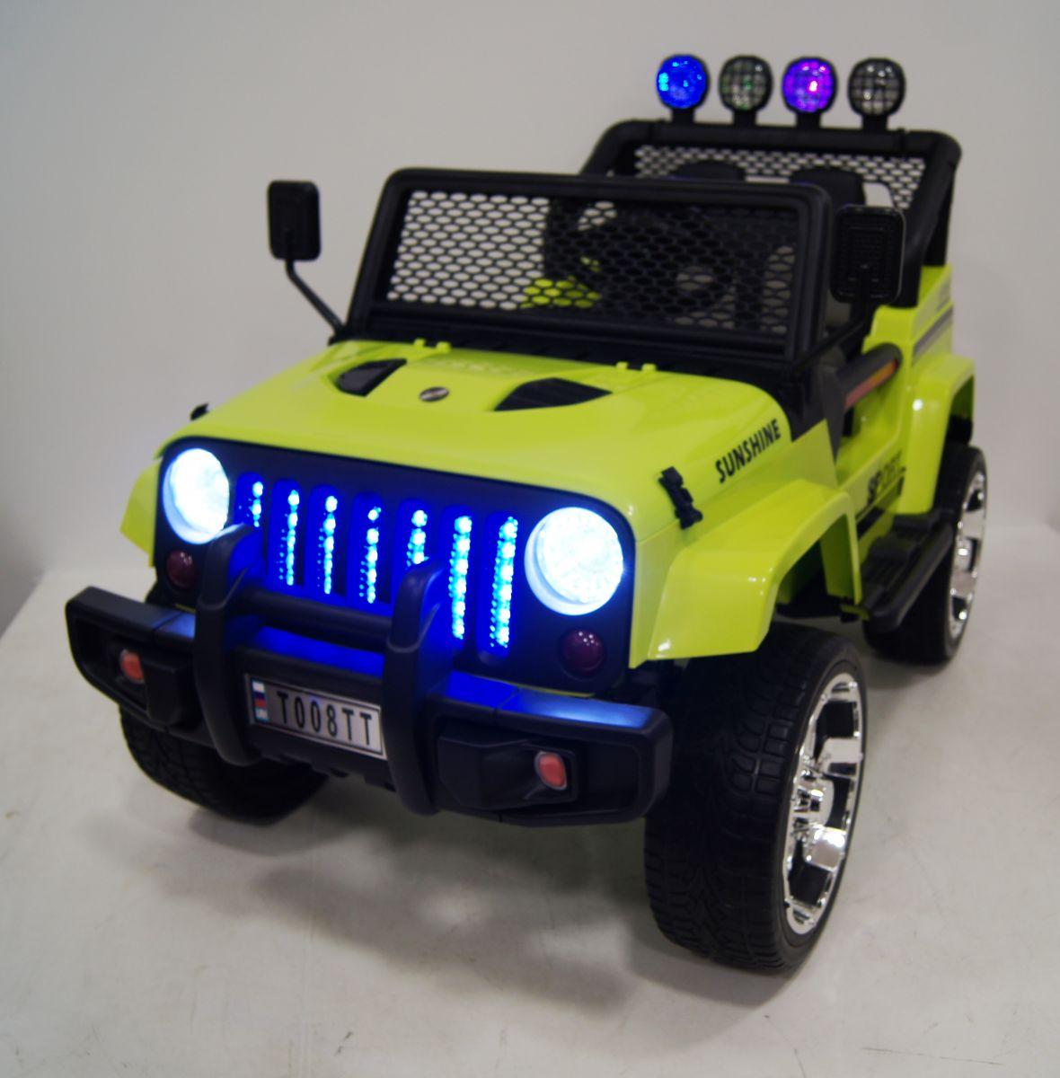 Детский электромобиль River Toys Jeep T888TT зеленый