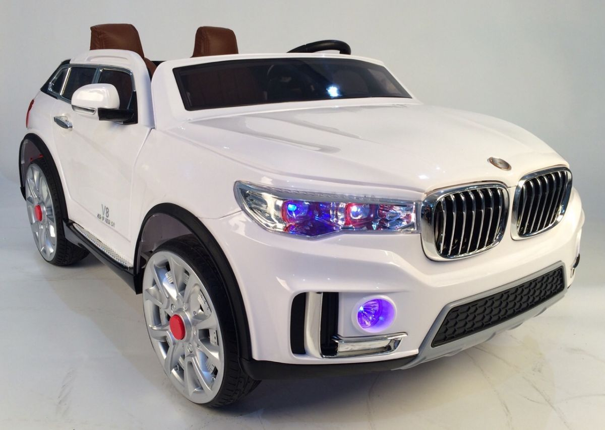 Детский электромобиль River Toys BMW M333MM белый